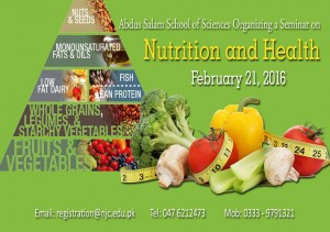 Abdus Salam Research forum organizing a seminar on Nutrition & Health