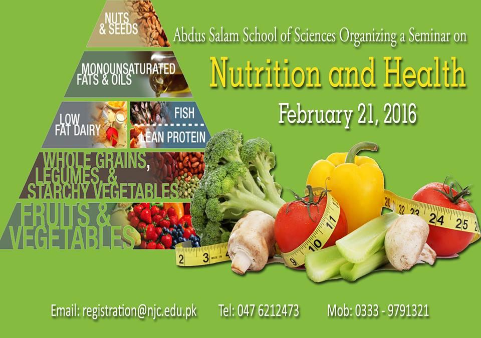 Abdus Salam Research forum organizing a seminar on Nutrition & Health