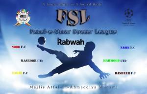 Fazal E Umar soccer league of Atfal Ul Ahmadiyya will start today with the opening ceremony