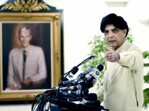 Chuhdhary Nisar asks opposition to talk over inquiry commission