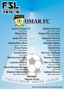 Umar FC; Fazal E Umar Soccer League