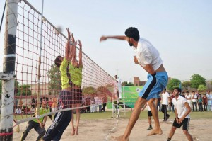 All Rabwah volleyball tournament; Team Jamia has beaten Factory Area to win the tournament