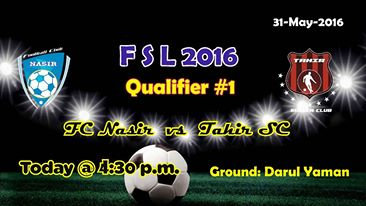 Fazal E Umer Soccer League; First knock out qualifier will be played today
