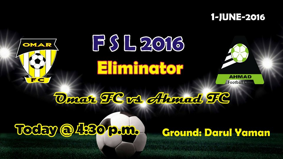 Fazal E Umar Soccer League; Eliminator between Umer FC and Ahmad FC