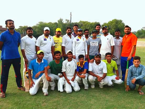 Saeed Ajmal and his Academy played two friendly matches with Team Rabwah