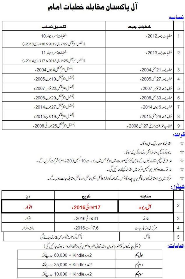 Majlis Khudam Ul Ahmadiyya Maqami organizing the competition of Khutbat E Amam in July