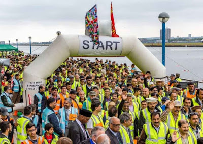 Jamat Ahmadiyya UK collected 200 thousand pounds for charity in a walk