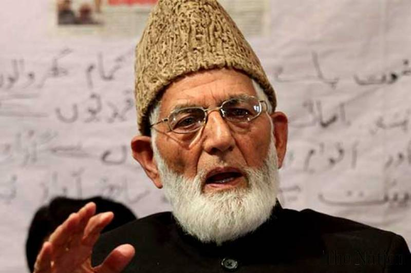 Gilani exposes India's 'humanity, democracy' in IOK