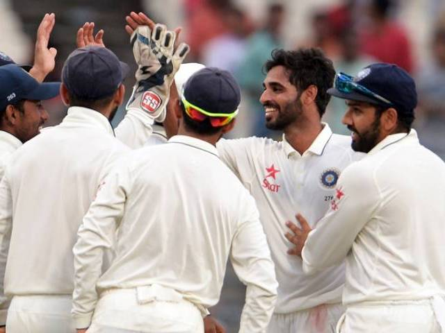 2nd Test: Kumar's fifer hands India advantage over New Zealand