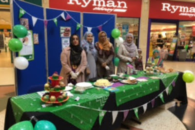 UK: Ahmadi Muslim women baking cakes for Macmillan Cancer fundraiser