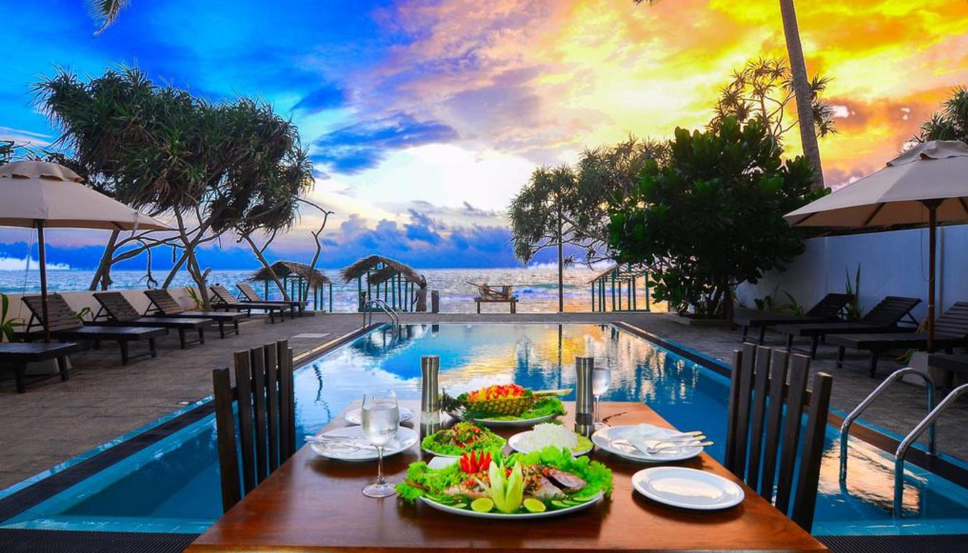 Ease Beach Hotel, Hikkaduwa, Sri Lanka.