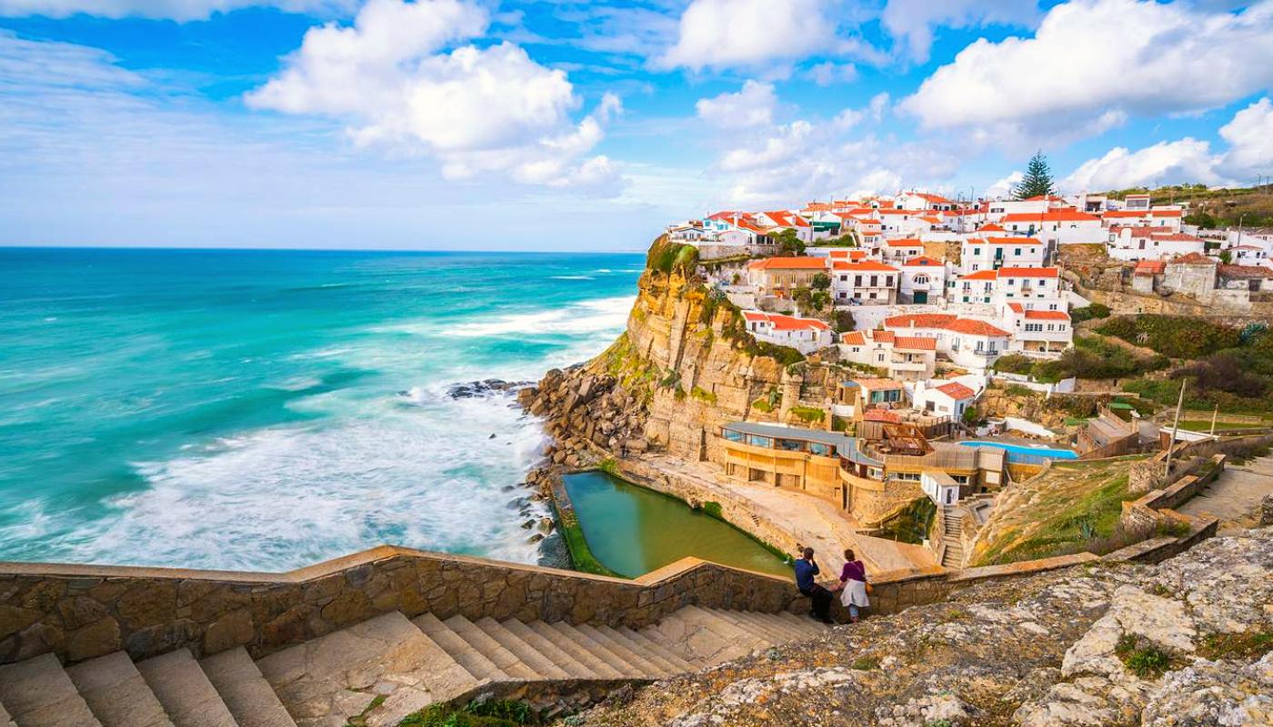 Lisbon's picturesque neighborhoods framed against the ocean