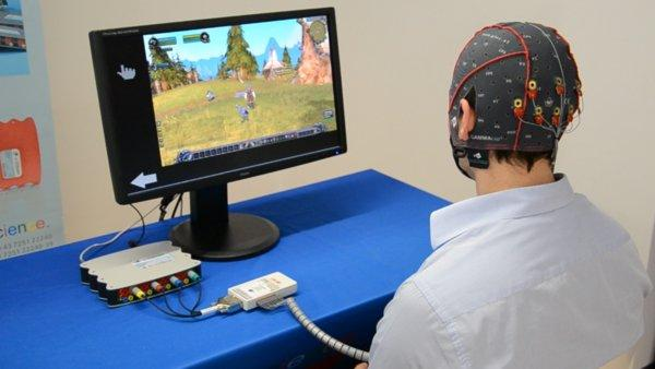 brain-controlled video game