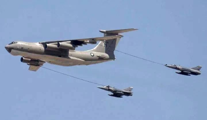 Pak Air Force's IL-78 air refueling tanker
